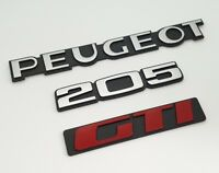 ⭐🇫🇷 NEUF KIT 3 MONOGRAMMES PEUGEOT 205 GTI COFFRE  CONFORME ORIGINE LOGO BADGE