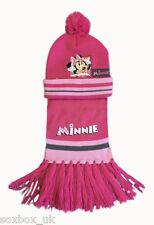 Kids Girls/Boys Disney Cars & Minnie Mouse Winter Hat & Scarf Set!