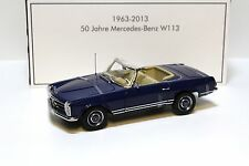 1:18 NOREV MERCEDES 230sl pagode w113 * L'Aia 1963 * BLUE NEW in Premium-MODELCARS