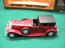 Vintage 1930 Duesenberg Model 'J' BOXED Y-4 Matchbox Models of Yesteryear