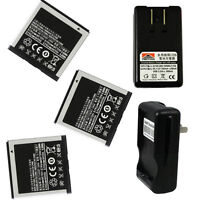 3X New Battery + Charger for Samsung GT-i9000 t959 t959t Vibrant Galaxy S 4G