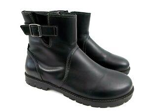 Birkenstock Stowe US Women's 10 M EU 41 Black Leather Zipper/Buckle Ankle Boots
