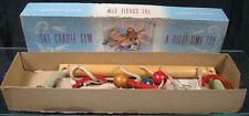 Vintage 1950's The Baby Cradle Gym With Red Bakelite Rings Childhood Interests