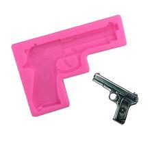 3d silicone mold pistol gun shape diy fondant jelly molds`cake decorating toolB9
