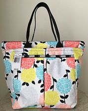 NWT LeSportsac Everygirl tote bag Purse garden mum blue yellow pink red grey $82