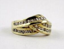 G9 Echt Gold Diamant Ring 750 Gold Kanalfassung mit  35 Diamanten 0,17 carat