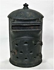 Rare Antique Cast Iron Mailbox The Adams Company Dubuque Iowa Wood Stove Style