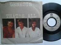 "Genesis / That's All 7"" Vinyl Single 1983 mit Schutzhülle"