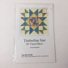 """Timberline Star Quilt Pattern 30"""" Floor Pillow The Pine Needle"""
