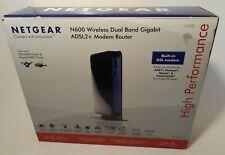 Netgear N600 Wireless Dual Band Gigabit ADSL2+ Modem Router DGND3700 DSL,4-Port