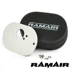RAMAIR Carb Air Filters With Baseplate SU HS6 (Mini Offset) 100mm Bolt On