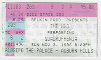 "THE WHO ""QUADROPHENIA"" Used Concert Ticket / Auburn Hills MI : Nov 3, 1996!"