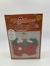 Rainbow Quilting Kit 5011 Strawberry Puff Wall Hanging or Pillow 15 x 19