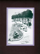Chas Addams ADDAMS FAMILY - 'TRIBUTE TO AN OIL SPILL' MATTED PRINT PUGSLEY