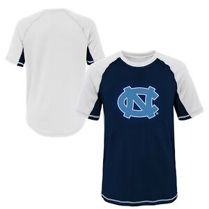 Outerstuff NCAA Youth North Carolina Tar Heels Color Block Rash Guard Shirt