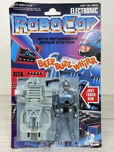 Robocop With Recharging Repair Station Electronic Figure Toy Island 1993 SEALED