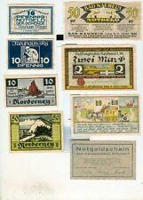 Notgeld:Norderney 2x,Neuhaus i.W 2x,Bad Nauheim,Neuhaus a.RG 2x,Niendorf/O
