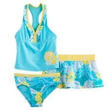 40ab66bc703f5 ZeroXposur NWT Girls Size 4 Swim Suit Tankini Top Bottoms Skirt 3 Piece Set