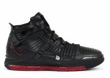 Nike Zoom Lebron 3 (III), Black/Black-Varsity Crimson, (Size 12)