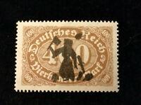 Deutsches Reich 1922 - MiNr. 222  Ziffern im Queroval, privater Aufdruck (?)