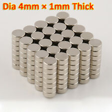 Magnets 4x1 Mm Neodymium Disc Small Strong Thin Round Craft Magnet 4mm Dia X 1mm
