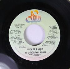 Pop Promo 45 The Broadway Brass - Luck Be A Lady / I'Ve Never Been In Love Befor