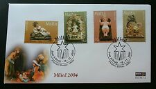 Malta Milied 2004 Christmas Festival Children Baby Toy Flower (stamp FDC)