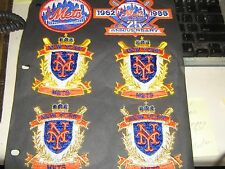 VINTAGE LOT OF 12 NEW YORK METS  PATCHES RARE RARE WITH 25 YEAR PATCH