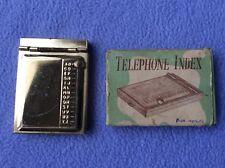 + Retro - Mini Telephone Index - Gold Coloured - Boxed - Superb +