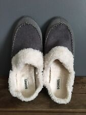Sorel Out N About Slide House Slipper Light Grey Suede Felt Women 10.5 $80 Shoe