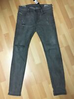 NWD Mens Diesel SELEENKER Stretch Denim 0676P DARK GREY SLIM W30 L32 H5 RRP£180.