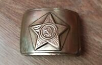 Original Soviet Russian military soldier army belt buckle USSR uniform