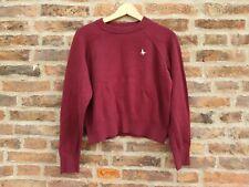 🍁🍂  JACK WILLS Burgundy Red Crop Short Jumper Sweater 🇬🇧 10 Autumn Winter