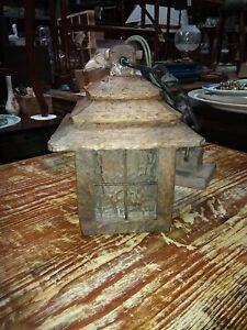 Vintage Wooden Kirolite Outside Porch Overhead  Lantern