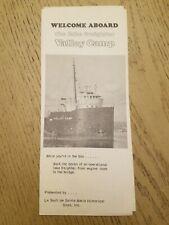 VTG 1970s Lake Freighter Valley Camp Soo Locks Sault Ste Marie Michigan Brochure