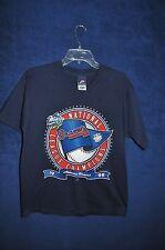VTG '90s 1999 Atlanta Braves National League Champions navy blue t shirt M