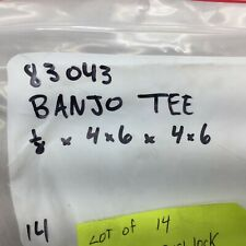 """NEW NO BOX (LOT OF 14) 1/4 X 1/4 PUSHLOCK BANJO TEE X 1/8"""" NPT 83043"""
