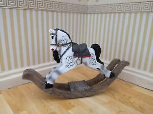 1/12th Scale Dolls House Small Rocking Horse.