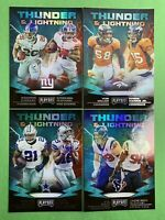 2019 Panini Playoff Football Thunder And Lightning Lot Of 4 No Doubles