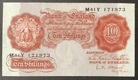 Bank of England. Ten Shillings. B271. L.K. O'Brien. 1955. M41Y 171973. (BN43)