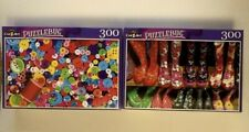 "Puzzlebug 300 Piece Puzzles 18.25"" X 11"" New & Sealed Lot of 2"