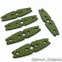 5 x Catapult Slingshot Microfibre Pouches  47mm x 12mm Hunting Band Pouch UK