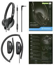 Sennheiser HD 2.20s Lightweight Foldable Closed Back Black Headphones 3.5mm Jack