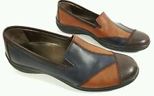 Esse Comfort womens multi tone leather flat shoes UK 7 Eu 40