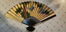 Large Wall Decor Oriental Chinese Folding Fan Restaurant Style Decor Very Large