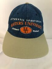 Hooters University Blue Denim Restaurant Baseball Cap Hat