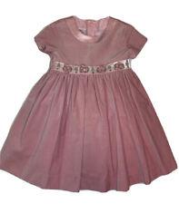 Plum Pudding Ltd Girls Peachy Pink Velvet Portrait Holiday Dress Sz 2T Boutique