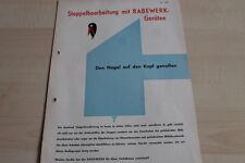 144113) Rabewerk Stoppelbearbeitung Schälpflug Spatenkrümler Prospekt 07/1965