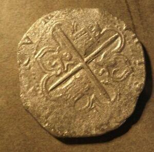 ARMADA TREASURE COIN 8 REALS PHILLIP 2ND 1588 NO PROVENANCE BUT IT LOOKS LI