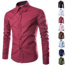 Luxury New Fashion Mens Slim Fit Shirt Long Sleeve Dress Shirts Casual Shirts